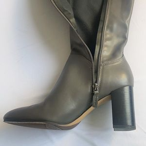 Grey Heeled Franco Sarto Boots Size 8.5